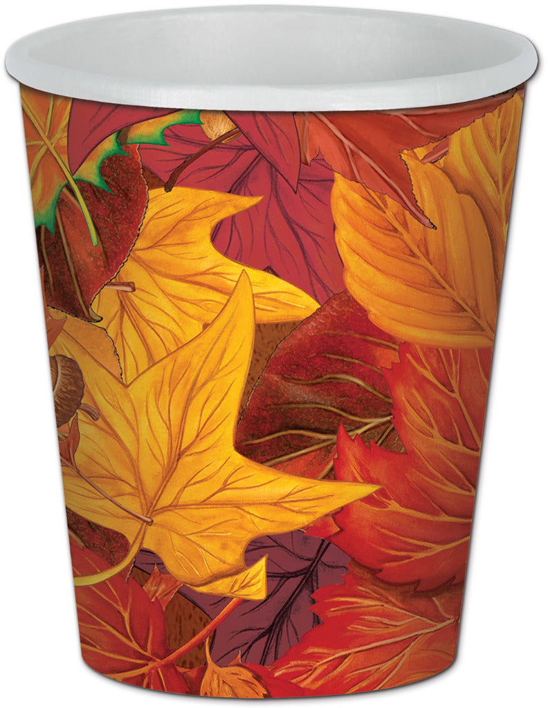 Fall Leaf Beverage Cups - CASE OF 24