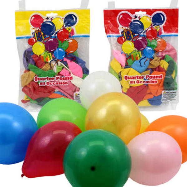 1-4lb Balloon Pack - Assorted - CASE OF 96