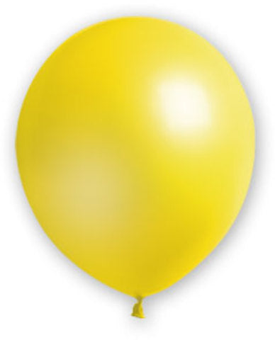 "12"" Yellow Balloons - 72 Count - CASE OF 4"