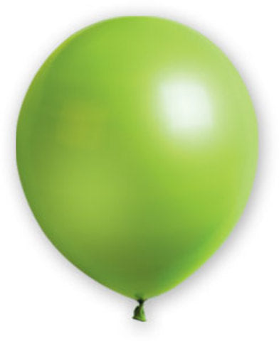 "12"" Fat Toad Lime Green Balloons - 72 count - CASE OF 4"