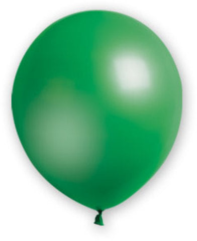 "12"" Hunter Green Balloons - 72 Count - CASE OF 4"