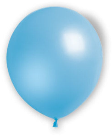 "12"" Fat Toad Light Blue Balloons - 72 count - CASE OF 4"
