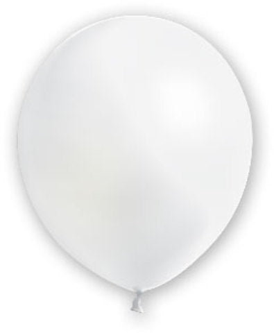 "12"" White Balloons - 72 Count - CASE OF 4"