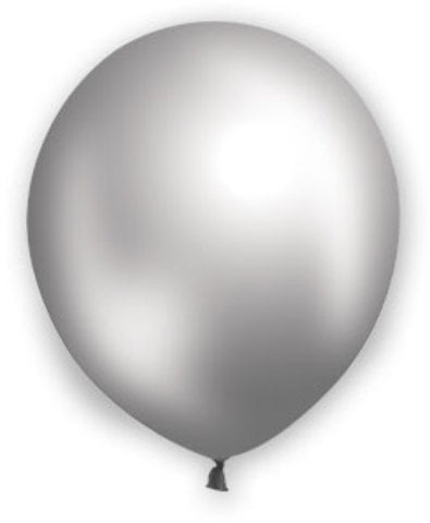 "12"" Pearl Silver Balloons - 72 Count - CASE OF 4"