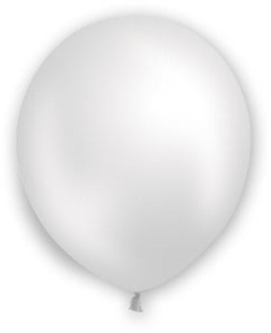 "12"" Pearl White Balloons - 72 Count - CASE OF 4"