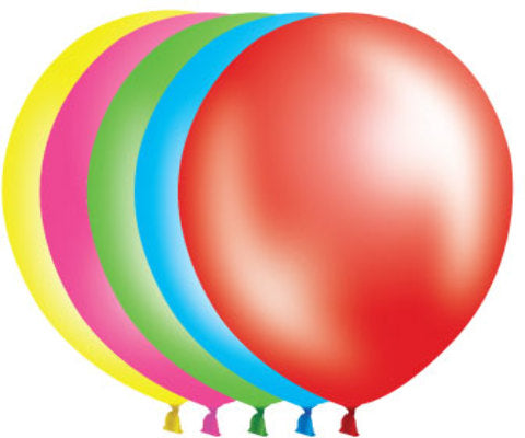 "12"" Pearl Balloons - 72 Count - Assorted - CASE OF 4"