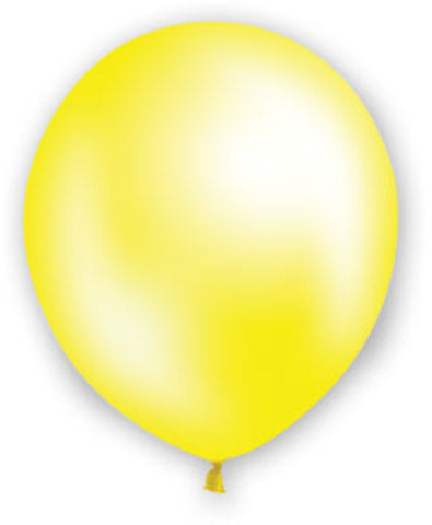 "12"" Pearl Yellow Balloons - 72 Count - CASE OF 4"