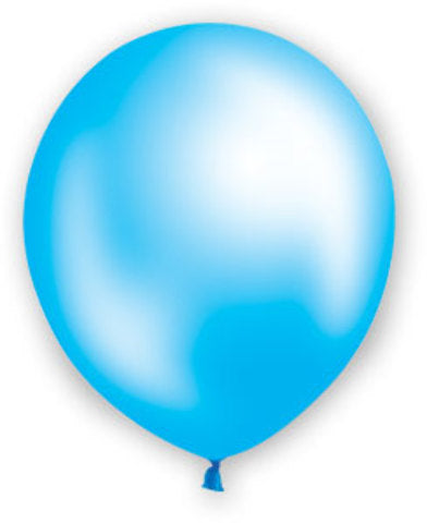 "12"" Pearl Light Blue Balloons - 72 Count - CASE OF 4"