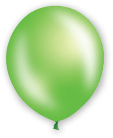 "12"" Fat Toad Pearl Lime Green Balloons - 72 count - CASE OF 4"