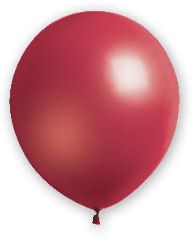"12"" Burgundy Balloons - 72 Count - CASE OF 4"