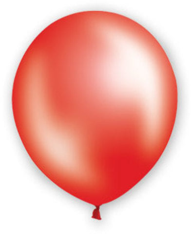 "12"" Pearl Red Balloons - 72 Count - CASE OF 4"