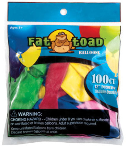 "3"" Water Balloons - 100 Count - Assorted - CASE OF 24"