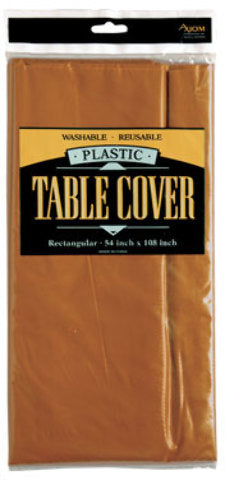 Rectangle Plastic Table Cover - Gold - CASE OF 24