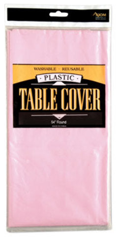 Rectangle Plastic Table Cover - Light Pink - CASE OF 24