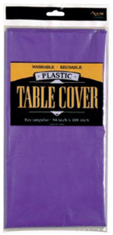 Rectangle Plastic Table Cover - Purple - CASE OF 24