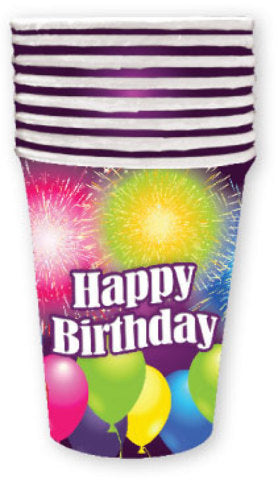 Birthday Blast 9 oz. Cup - 8 count - CASE OF 24