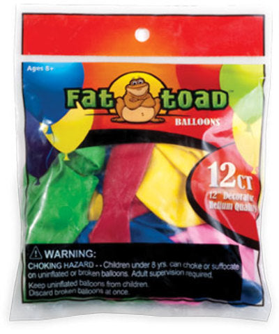 "12"" Balloons - 12 Count - Assorted - CASE OF 24"