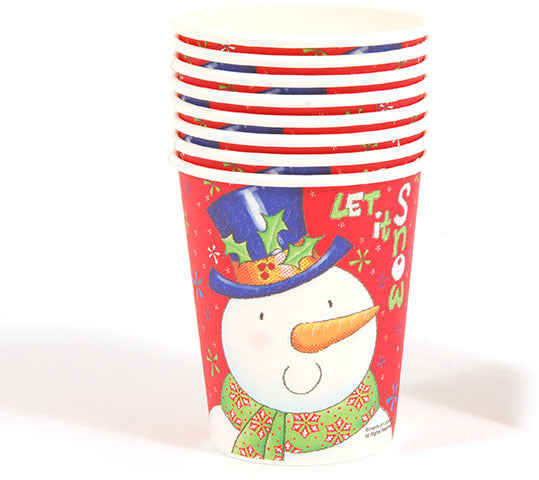 Let It Snow Printed Cups - CASE OF 36