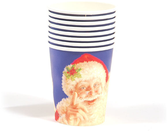 Santa Face Printed Cups - CASE OF 36