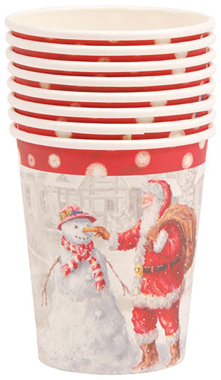 Santa and Snowman Printed Cups - CASE OF 36