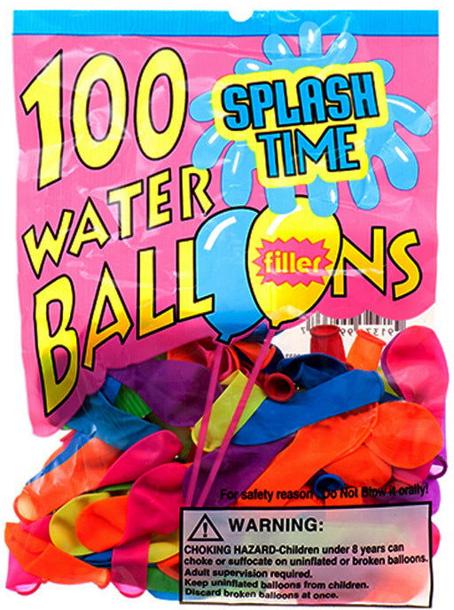 Water Balloon With Filler - 100 Count - Assorted - CASE OF 144