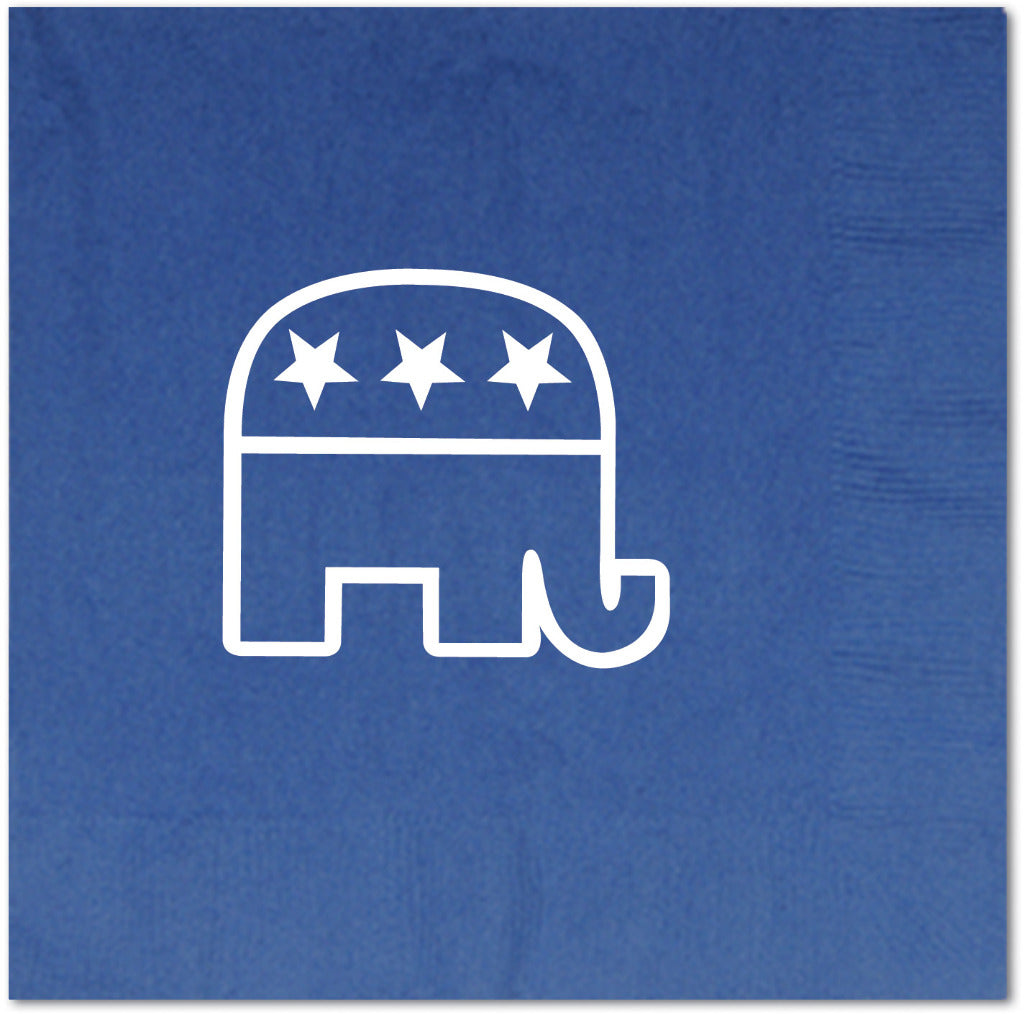 Republican Luncheon Napkins - (2-Ply) Blue - CASE OF 12