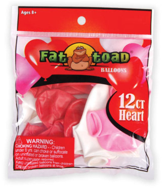 Heart Shape Balloons - 12 Count - Assorted - CASE OF 24