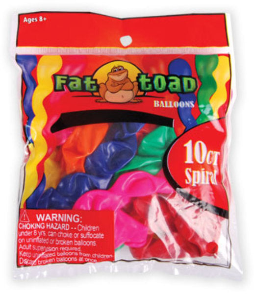 Spiral Balloon - 10 Count - Assorted - CASE OF 24