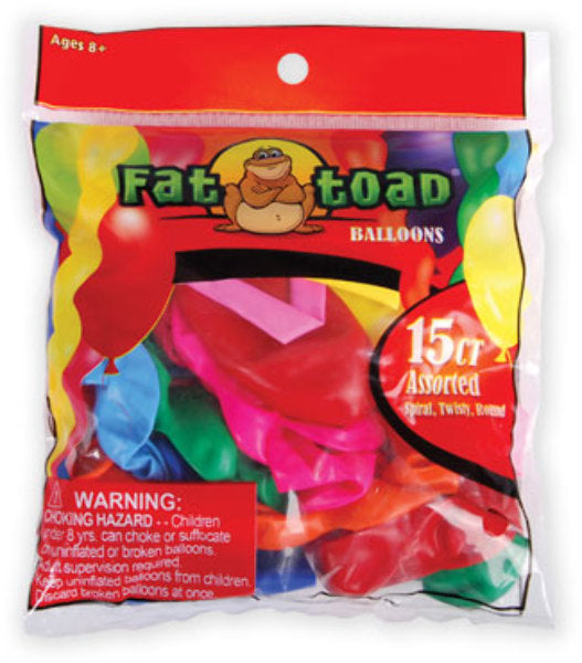 Balloons Assorted Shapes - 15 Count - CASE OF 24