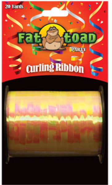 Fat Toad Curling Ribbon Iridescent Yellow - 20 yar - CASE OF 24