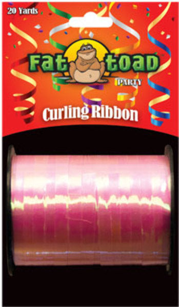 Fat Toad Curling Ribbon Iridescent Pink - 20 yards - CASE OF 24