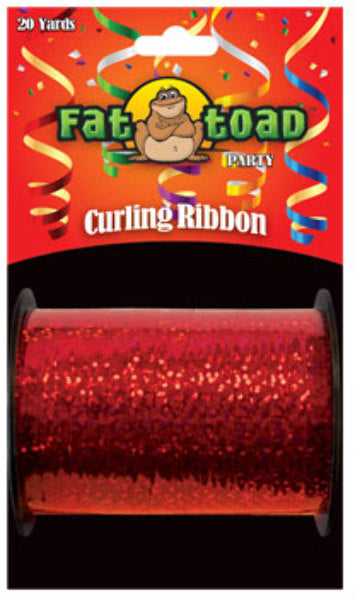 Fat Toad Curling Ribbon Red Sparkle - 20 yards - CASE OF 24