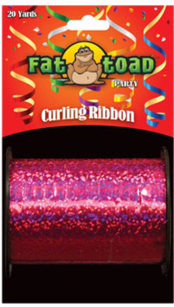 Fat Toad Curling Ribbon Fuchsia Sparkle - 20 yards - CASE OF 24