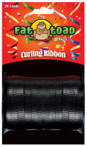 Fat Toad Curling Ribbon Black - 20 yards - CASE OF 24