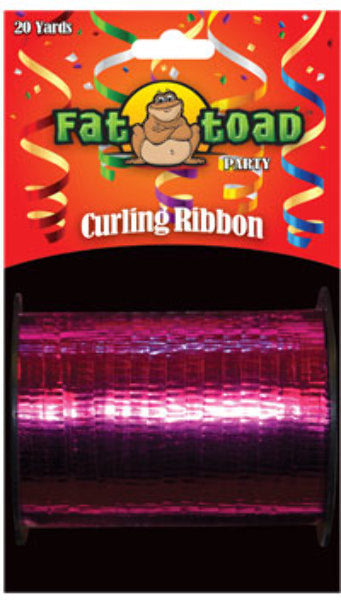Fat Toad Curling Ribbon Fuchsia - 20 yards - CASE OF 24
