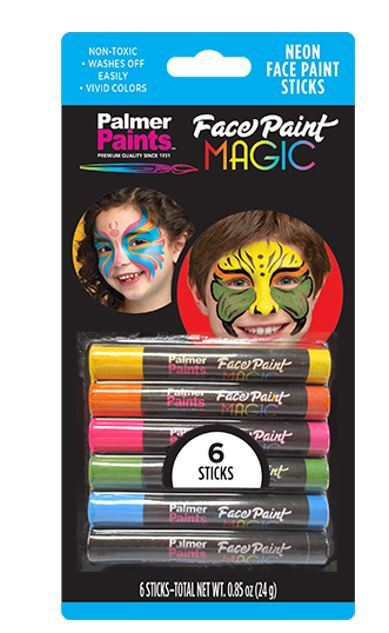 Face Paint Magic Crayons - Neon - CASE OF 12