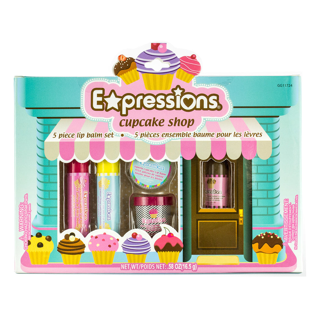 Expressions Cupcake Shop Lip Balm Box - 5 Piece - CASE OF 48