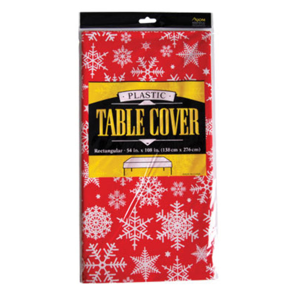 Fat Toad Snowflakes Printed Rectangle Table Cover - CASE OF 24