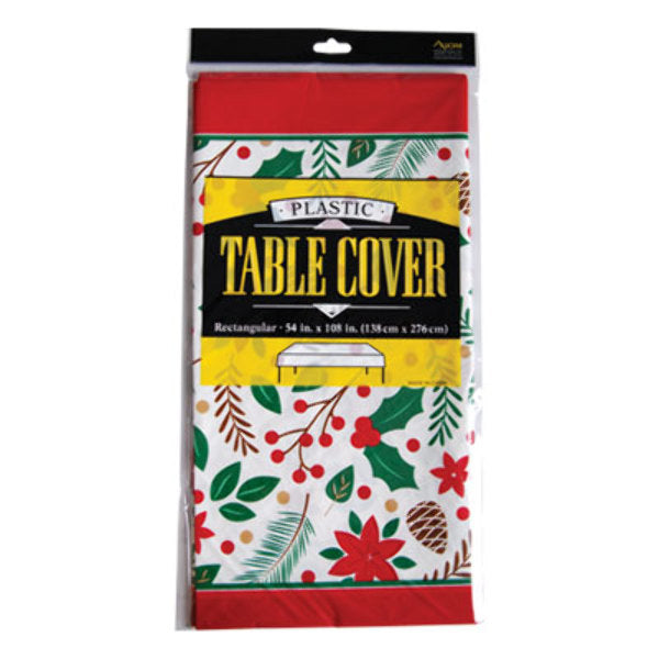 Fat Toad Evergreen Printed Rectangle Table Cover - CASE OF 24