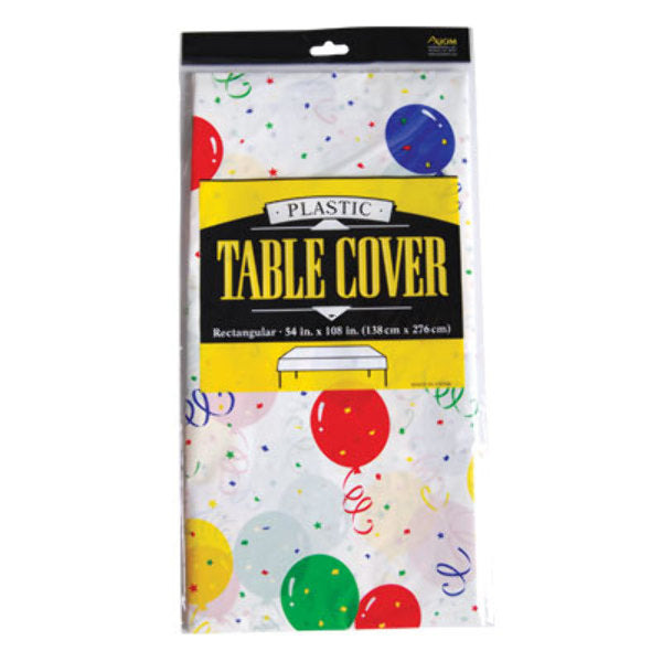 Fat Toad Birthday Balloons Printed Rectangle Table - CASE OF 24