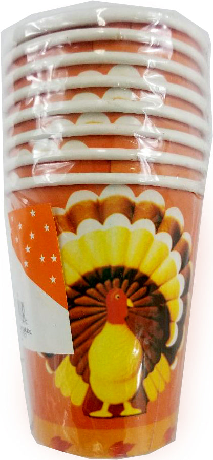 Thanksgiving Paper Cups - 8 Count - CASE OF 60