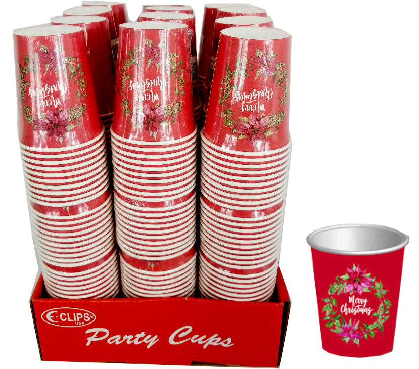 Christmas Paper Cups - CASE OF 48