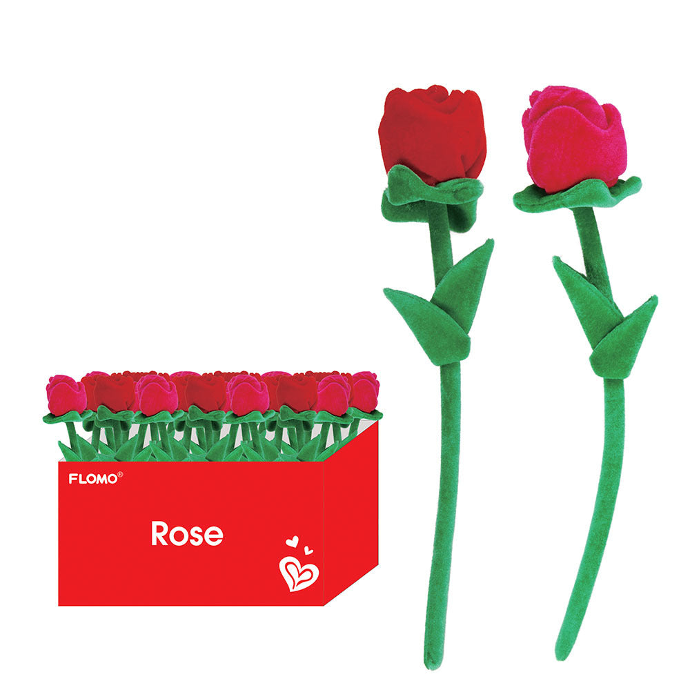 Plush Long Stem Roses in Two Colors - CASE OF 48