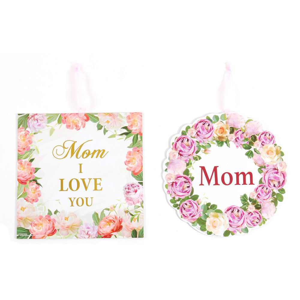 Mom Hanging Plaque With Hot Stamping for Mother's Day - CASE OF 48