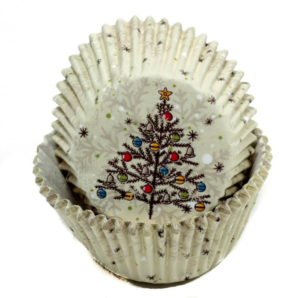 Christmas Tree Baking Cups - 50 Count - CASE OF 72