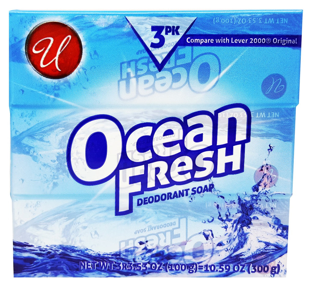 Ocean Fresh Deodorant Soap 3-Pack - CASE OF 48