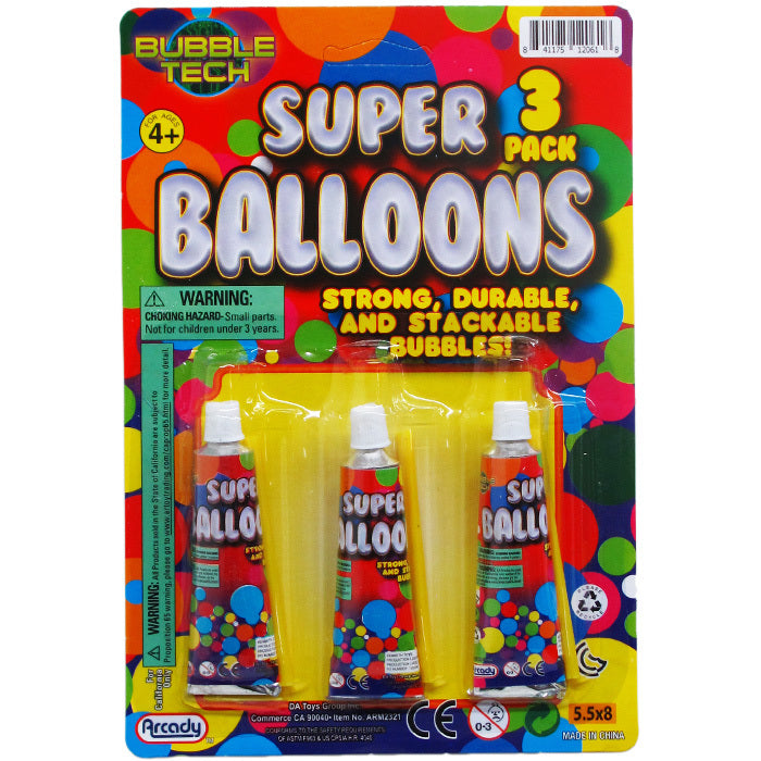 "3-Piece 3.25"" Super Balloons Play Set - CASE OF 144"