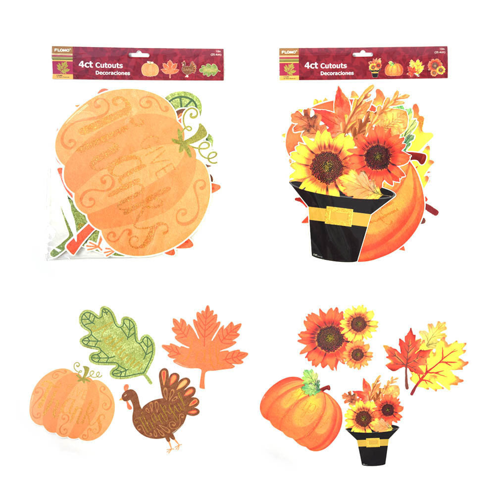 Thanksgiving Harvest Cut Outs - CASE OF 72
