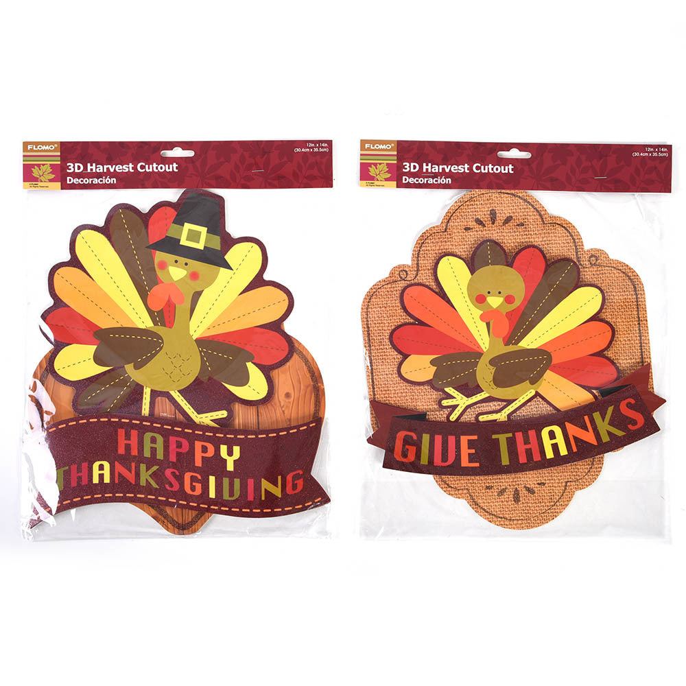 Thanksgiving Harvest 3D Decoration - CASE OF 72