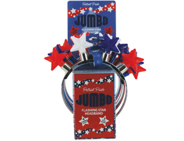 USA Jumbo Light Up Headband - CASE OF 24